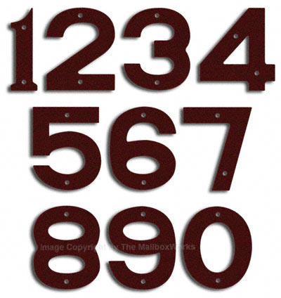 Majestic Small Burgundy House Numbers