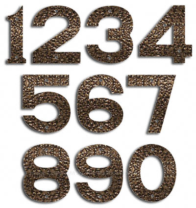 Majestic Small Gold Vein House Numbers