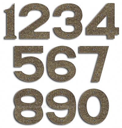 Majestic Small Natural Stone House Numbers
