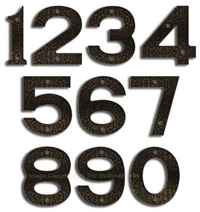 Majestic Small Silver Vein House Numbers