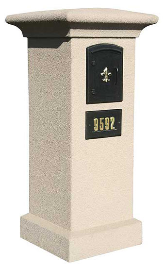 Stucco Column for Manchester Mailbox
