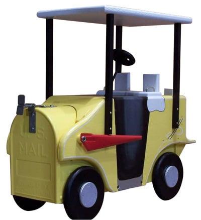 Golf Cart Novelty Mailbox