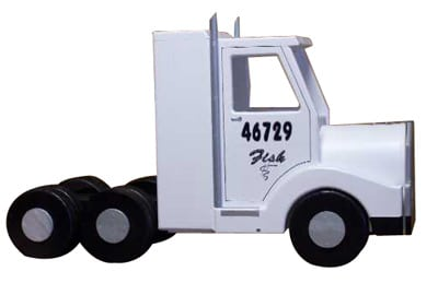 Semi Truck Novelty Mailbox