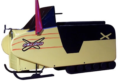 Snowmobile Novelty Mailbox