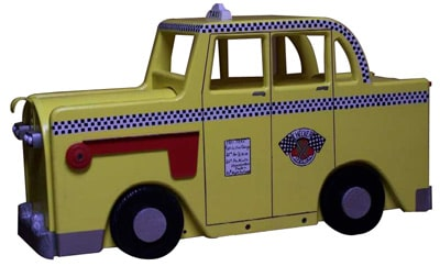 NY Yellow Checker Taxi Novelty Mailbox