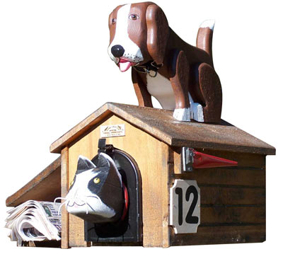 Woodendipity Style Cat House Novelty Mailbox
