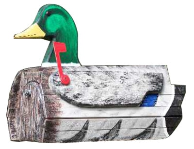 Woodendipity Style Mallard Duck Novelty Mailbox