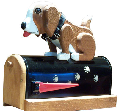 Woodendipity Style Postal Pooch Novelty Mailbox