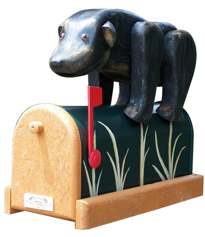 Woodendipity Style Bear Novelty Mailbox
