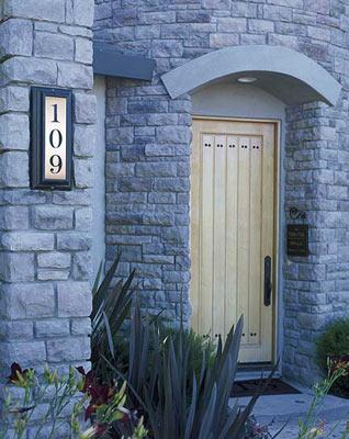 QualArc Edgewood Vertical Address Plaque Installed