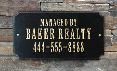 QualArc Executive Rectangle Address Plaque Installed