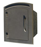 Manchester Mailbox Bronze Plain Door