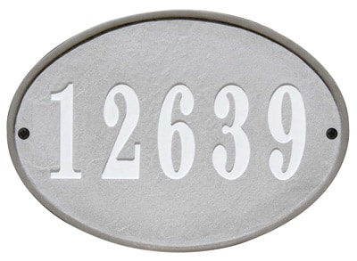 QualArc Oakfield Oval Stone Address Plaque