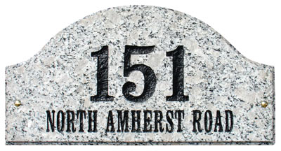 QualArc Ridgecrest Arch Address Plaque