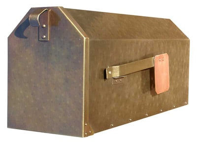 QualArc Provincial Post Mount Brass Mailbox
