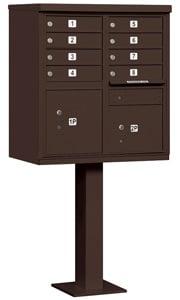 Salsbury 8 Door CBU Mailbox Bronze
