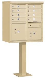 Salsbury 8 Door CBU Mailbox Sandstone