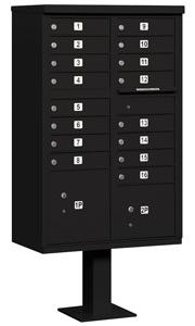 Salsbury 16 Door CBU Mailbox Black