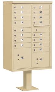 Salsbury 16 Door CBU Mailbox Sandstone