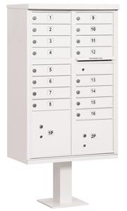 Salsbury 16 Door CBU Mailbox White
