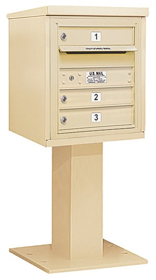3405S03 Salsbury Commercial 4C Pedestal Mailboxes