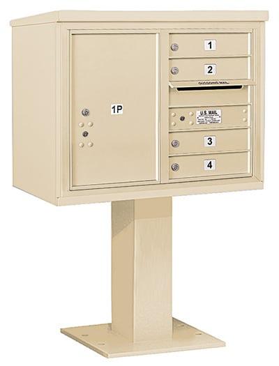 3406D04 Salsbury Commercial 4C Pedestal Mailboxes