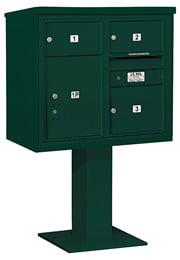 Salsbury 4C Pedestal 3407D-03 Green