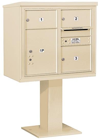 3407D03 Salsbury Commercial 4C Pedestal Mailboxes