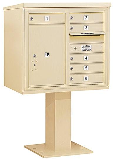3407D06 Salsbury Commercial 4C Pedestal Mailboxes