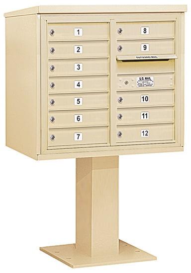 3407D12 Salsbury Commercial 4C Pedestal Mailboxes