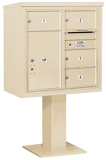 3408D04 Salsbury Commercial 4C Pedestal Mailboxes
