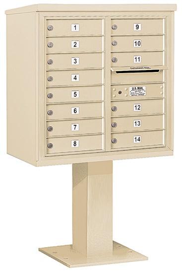 3408D14 Salsbury Commercial 4C Pedestal Mailboxes