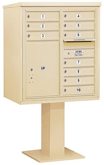 3409D10 Salsbury Commercial 4C Pedestal Mailboxes