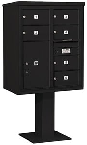 Salsbury 4C Pedestal 3410D-06 Black
