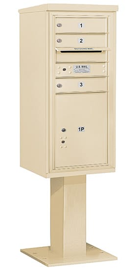 3410S03 Salsbury Commercial 4C Pedestal Mailboxes