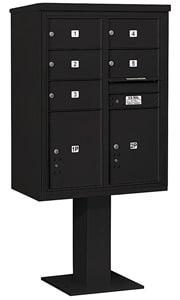 Salsbury 4C Pedestal 3411D-05 Black