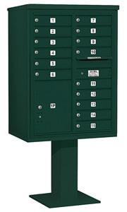 Salsbury 4C Pedestal 3411D-15 Green