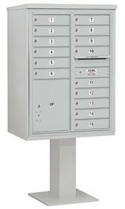 Salsbury 4C Pedestal 3411D-15 Gray