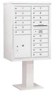 Salsbury 4C Pedestal 3411D-15 White