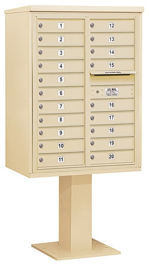 3411D20 Salsbury Commercial 4C Pedestal Mailboxes