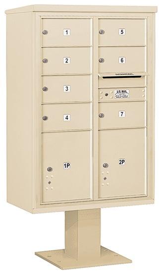 3413D07 Salsbury Commercial 4C Pedestal Mailboxes