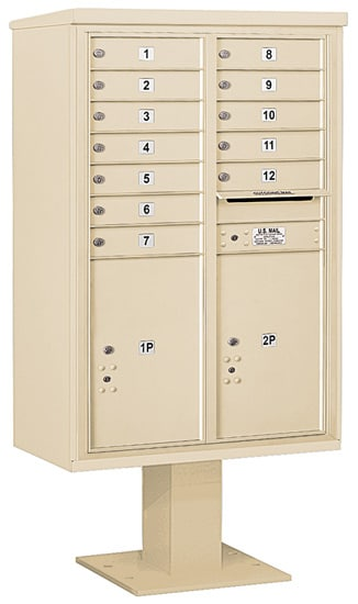 3413D12 Salsbury Commercial 4C Pedestal Mailboxes