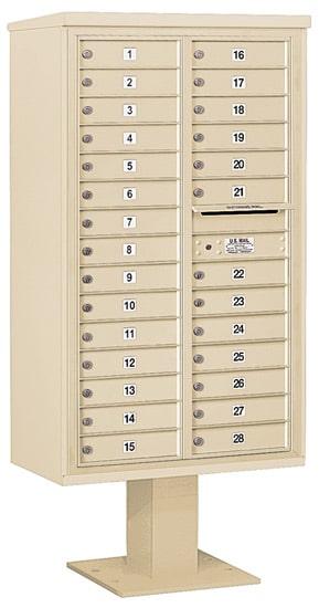 3415D28 Salsbury Commercial 4C Pedestal Mailboxes