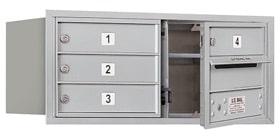 Salsbury 4C Mailboxes 3703D-04 Aluminum