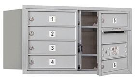 Salsbury 4C Mailboxes 3704D-06 Aluminum
