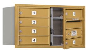 Salsbury 4C Mailboxes 3704D-06 Gold