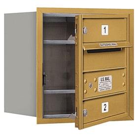 Salsbury 4C Mailboxes 3704S-02 Gold