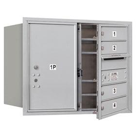 Salsbury 4C Mailboxes 3706D-04 Aluminum