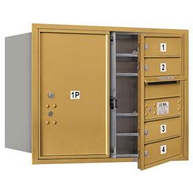 Salsbury 4C Mailboxes 3706D-04 Gold