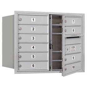 Salsbury 4C Mailboxes 3706D-10 Aluminum